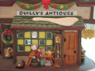 """Dept 56 Dickens Village Series """"Quilly's Antiques""""  #58348"""