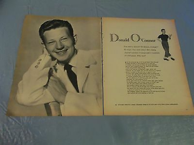 Donald O'Connor  vintage  clipping #723