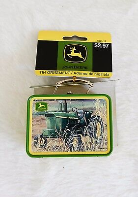 John Deere Tin Lunchbox Ornament 2007 Judy Richardson - 4 Still Available