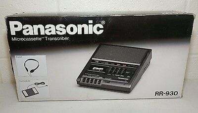 Panasonic RR-930 Microcassette Transcriber New in box with factory packaging NOS