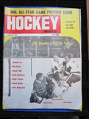 1967 (January) Hockey World Magazine Feature Gump Worsely Montreal Canadiens