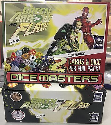 Dice Masters GREEN ARROW AND THE FLASH  90pc Gravity Box NEW Canada Seller