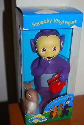 BRAND NEW Vintage 1996 Collectable Teletubby  Vinyl Figure Tinky Winky + Rabbit