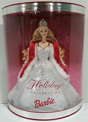 "Special Edition 2001 Holiday Celebration Barbie 11.5"" Doll IOB"