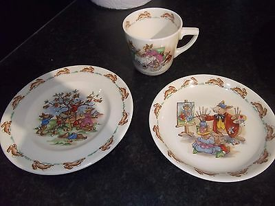 Small Plate Cup And Saucer Royal Doulton Bunnykins In Vgc