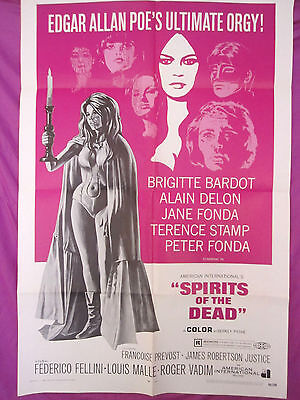 Authentic Original Fellini SPIRITS OF THE DEAD 1969 Movie Poster