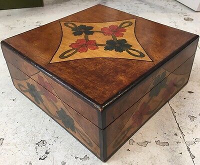 Early 1900's Pokerwork Box - Possibly Suffragette Movement Art nouveau