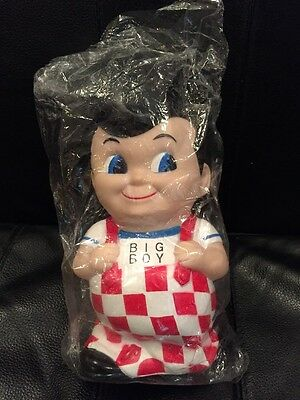 Sealed Alby's Big Boy Restaurant Rubber Bank Bank About Seven Inches Tall