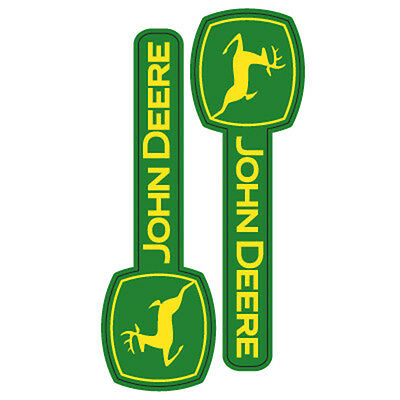 John Deere Horizontal Logo Decal Stickers 2pc