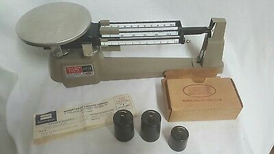 Ohaus Triple Beam Balance Scale 700 Series 2610g With 707 Weight set