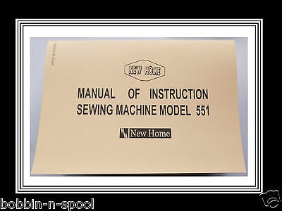 Janome New Home Model 551 Zigzag Sewing Machine Instruction Manual,NO MACHINE*