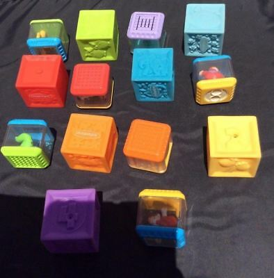 Infantino Squeeze and Stack Block Set With Additional Rattle Blocks L6