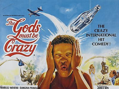 "The Gods must be Crazy 16"" x 12"" Reproduction Movie Poster Photograph"