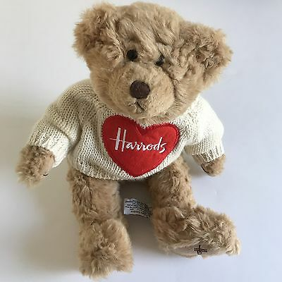 Harrods Teddy Bear Heart Sweater Plush Stuffed Animal Toy Knightsbridge