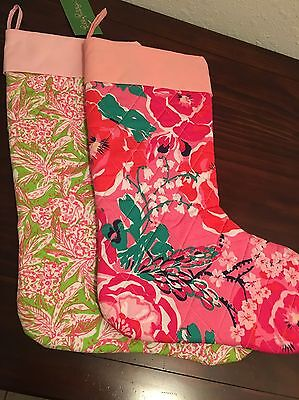 NWT Lilly Pulitzer Christmas Stockings Lot Of 2 Cougar Bar & A Thing Called Love