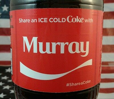 Share A Coke With Murray Limited Edition Coca Cola Bottle 2017 USA