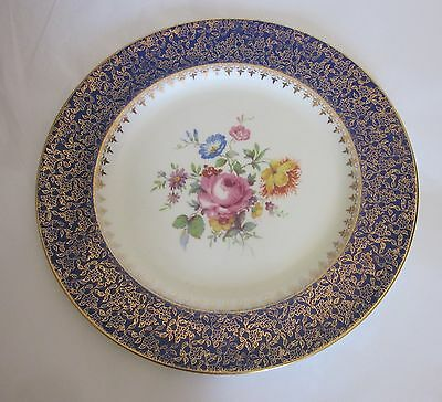 Royal Winton Grimwades Blue Edged Gold Trim Plate Made in England 4860