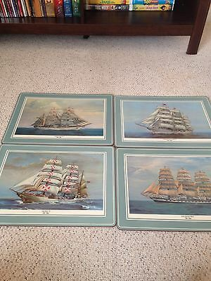 4 Cork Backed Place Mats Pimpernel Clipper Ships Tall Ships