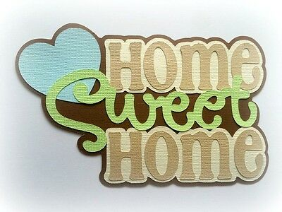 Home Sweet Home Title Premade  Paper Piecing My Tear Bears Kira