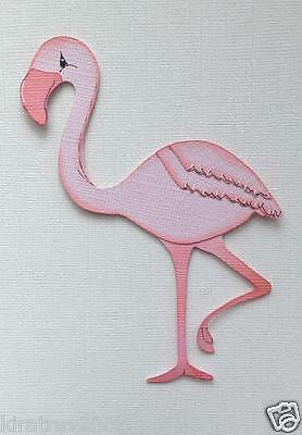 Baby Pink Flamingo Premade  Paper Piecing Kids Outdoor  By My Tear Bear *kira*