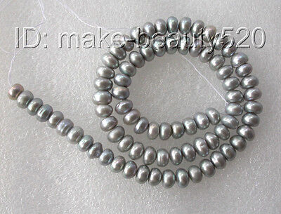 wholesale 5pcs 7mm gray baroque freshwater pearl necklace loose beads s187