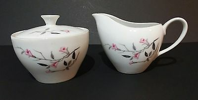 Cherry Blossom Sugar Bowl and Creamer 1067 Japan China