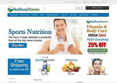 Vitamin products turnkey website for sale - Established Domain & Website