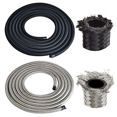 Nylon Stainless Steel Braided Brake Gas/Oil/Fuel Line Hose AN4/AN6/AN8/AN10/AN12