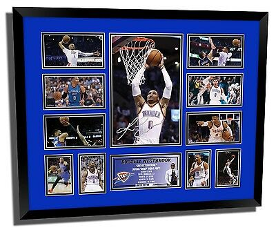Russell Westbrook 2017 Nba Mvp Winner Signed Limited Edition Framed Memorabilia