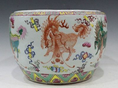 Chinese Exquisite Hand-Painted Unicorn Qilin pattern Porcelain Pot
