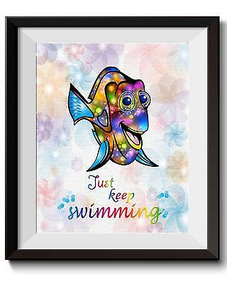 Uhomate Dory Finding Nemo Poster Canvas Art Print Nursery Wall Decor Gift C020