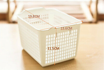 Small Plastic Stackable Colored Storage Baskets/Bins Home Office Organizer