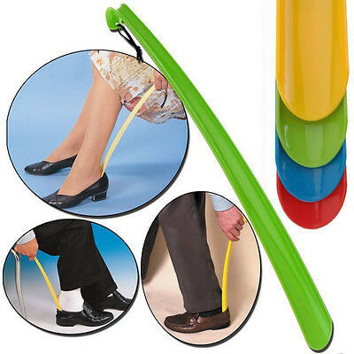 Long Shoe Horn Lifter Remover Plastic Disability Aid Flexible Stick 42*4cm