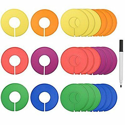 36 Pack Clothing Rack Size XS-XL Dividers Round Hangers Closet Dividers