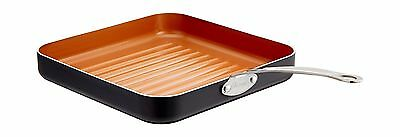 Gotham Steel 10.5-Inch Non-Stick Grill Pan with Ti-Cerama Surface Copper Brown