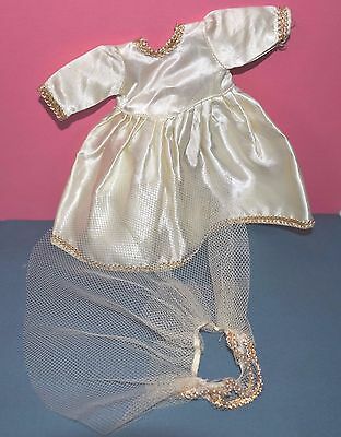 ~~Here Comes.... #2 **** Vintage 1950's Wedding Dress for a Ginny/Muffie Doll~~