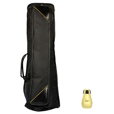 Durable 1pc Practice Straight Mute and 1pc Gig Bag for Tenor Trombone Parts