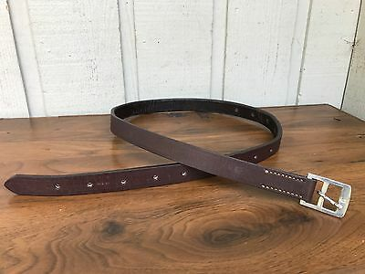 Men's or Women's Genuine Leather Brown Belt, Handmade size 24-42