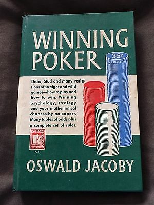 VINTAGE Winning Poker Hardcover Oswald Jacoby 1949 - Perma Book