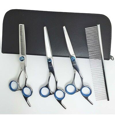 """Stainless Steel  6.5"""" Pet Grooming Curved Scissors Kit Set for Dogs and Cats"""