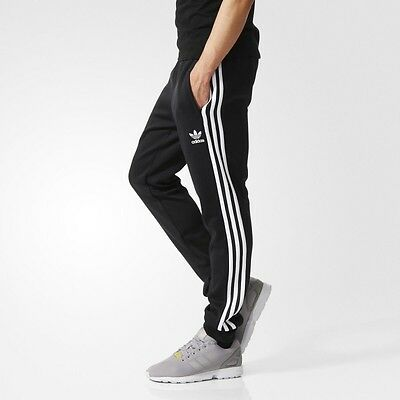 New Adidas Sst Men's Track Training Soccer Athletic Gym Pants Black White 2Xl