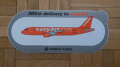 Airbus A320 200th delivery to easyJet Aufkleber Sticker