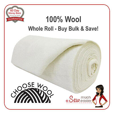 100% Wool Batting for Quilts Best Wadding for Quilting patchwork quilters dream