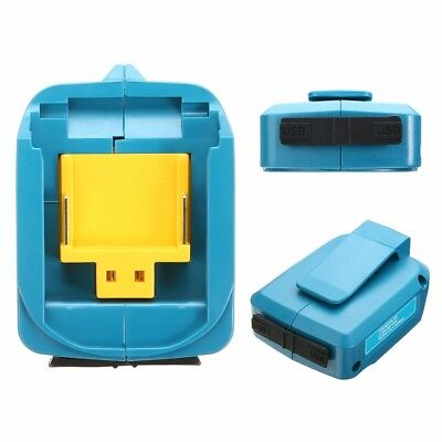 2A Blue Battery Dual USB Charger Adapter Tools for Makita BL1830 1430 Adapter