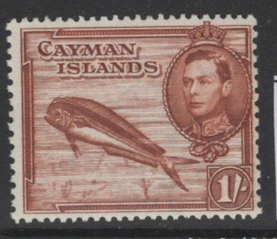 Cayman Islands Sg123 1943 1/- Red Brown Perf 13 X 11½ Mnh