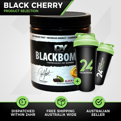 Dorian Yates Black Bombs | 60 Serve Black Cherry | Fat Burning | Free Gift!