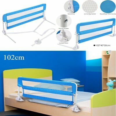 102cm Bed Guard Kids Toddler Baby Metal Bed Rail Fold Sleep Safety Protection UK