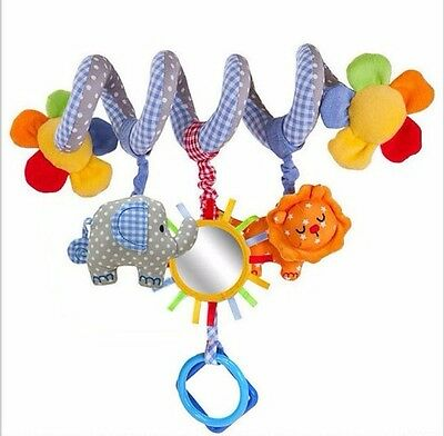 new hot Multi-function music elephant lion bed baby hanging plush toys Baby