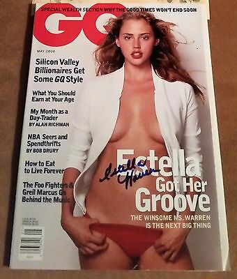 ESTELLA WARREN SIGNED AUTOGRAPHED GQ Magazine with COA