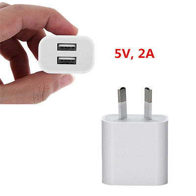 Universal 5V 2A Dual USB Port Wall Travel Power Charging Charger Adapter AU Plug